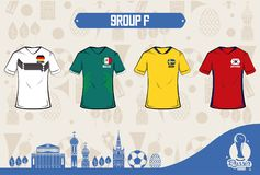 Football sport wear russia 2018. Vector illustration graphic design Royalty Free Stock Photography