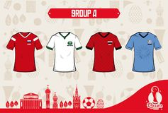 Football sport wear russia 2018. Vector illustration graphic design Stock Images