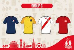 Football sport wear russia 2018. Vector illustration graphic design Stock Photos