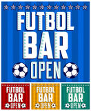 Football - Sports Bar Menu card design template Royalty Free Stock Photo