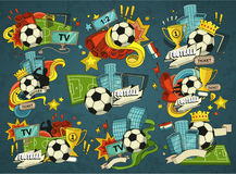 Football sports elements Stock Photo