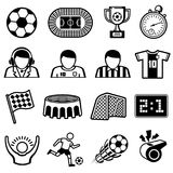 Football sports vector icons. Soccer team symbols. Game soccer and competition team illustration Royalty Free Stock Image