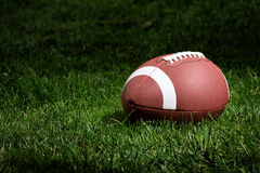 Football in the spotlight Royalty Free Stock Photos