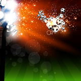 Football spotlight background Royalty Free Stock Photo