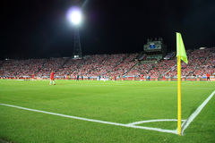 Football Stadium. Night image of the Slaski Stadium before the 2010 FIFA World Cup qualification match between Poland and Northern Ireland on September 5, 2009 Royalty Free Stock Photos