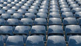 Football  Stadium. Blue seat at football  Stadium Stock Photography