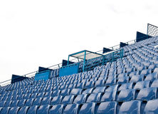 Football  Stadium. Blue seat at football  Stadium Stock Image