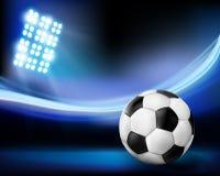 Football on the stadium. Stock Photography