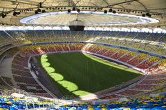 Football stadium. Inside top view of the entire football stadium. National Arena, Bucharest, Romania Stock Photos