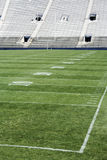 Football Stadium. American football stadium with field markings on the field Royalty Free Stock Photography