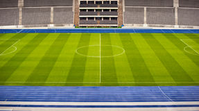 Football stadium. View on an empty football stadium Stock Photos