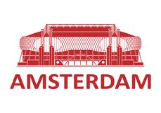 Football stadium. Amsterdam. Football stadium 2020. Amsterdam. Netherlands royalty free stock images