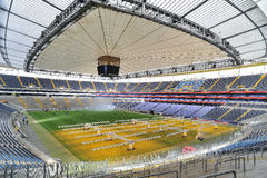 Football stadium arena in Frankfurt Royalty Free Stock Photos