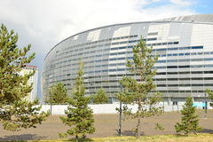 Football stadium ASTANA ARENA in Astana Royalty Free Stock Images