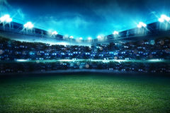 Football stadium background. Image of empty football stadium background. You can put your design Stock Image