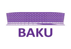 Football stadium. Baku. Football stadium 2020. Baku. Azerbaijan stock photography