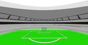 Football stadium bird center view design of my own vector Royalty Free Stock Photo