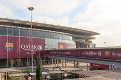 Football stadium Camp Nou outside in Barcelona Stock Images