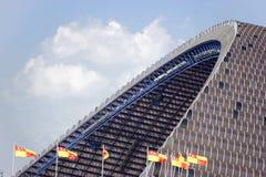 Football stadium canopy Royalty Free Stock Images