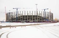 Football stadium construction Stock Image