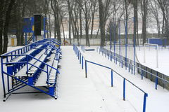 Winter stadium Stock Photos