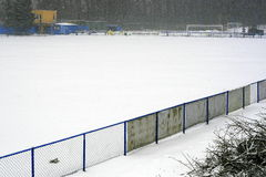 Winter stadium Stock Photo