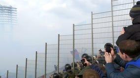 Football Stadium Covered with Smoke stock footage
