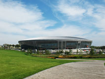 A football stadium is Donbas-arena. Beautiful football stadium Donbas-arena Donetsk Ukraine in a sunny day Stock Images
