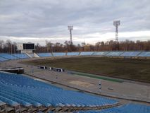 Football stadium empty Stock Photos