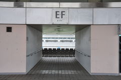 Football stadium entrances Royalty Free Stock Photo
