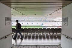 Football stadium entrances. With a walking man Stock Photography