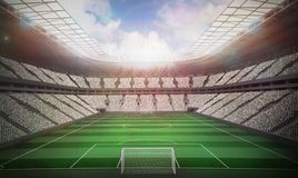 Football stadium with fans in white Stock Images