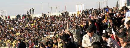 Football stadium. Firanso hariri football stadium at erbil city Royalty Free Stock Images