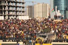 Football stadium. Firanso hariri football stadium at erbil city Stock Image