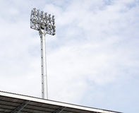 A football stadium floodlight Royalty Free Stock Image