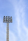 Football stadium floodlight Royalty Free Stock Photography
