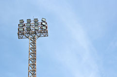 Football stadium floodlight Royalty Free Stock Photo