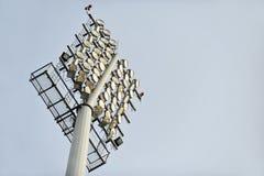 Football stadium floodlights Stock Images