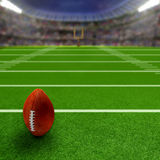 Football Stadium With Football and Copy Space Royalty Free Stock Photo
