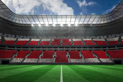 Football stadium full of england fans. Digitally generated football stadium full of england fans Royalty Free Stock Photography