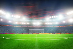 Football stadium before the game Royalty Free Stock Image