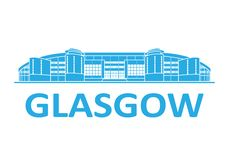 Football stadium. Glasgow. Football stadium 2020. Glasgow. Scotland stock photography
