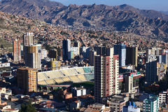 Football Stadium Hernando Siles in La Paz, Bolivia Royalty Free Stock Images