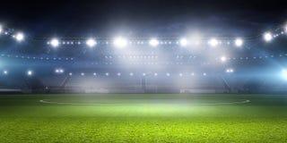 Football stadium in lights . mixed media Stock Photo