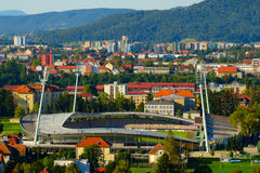 Football Stadium Ljudski vrt in Maribor, Slovenia Royalty Free Stock Images