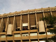 Football stadium in Madrid Royalty Free Stock Photo