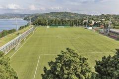 Football stadium in mediterranean country Stock Photos