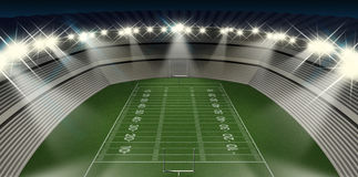 Football Stadium Night Royalty Free Stock Photo