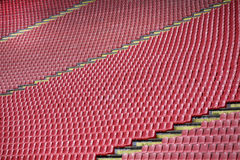 Football stadium. The repeat of football stadium seats Royalty Free Stock Photos