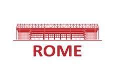 Football stadium. Rome. Football stadium 2020. Rome. Italy royalty free stock photo